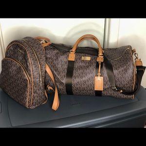 Michael Kors Matching Duffle & Backpack